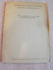 1920 Paper Signed By Ronald Foster and George Campbell Telephone Bell Labs At&T