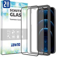 2x 11D Glas iPhone 12 11 X XS XR Pro Max Mini INSTALLATIONSRAHMEN Panzer Folie