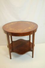Hepplewhite Inlaid Side End Center Table with Bottom Shelf, c.1920's