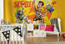 Toy Story wallpaper mural for BOYS bedroom Giant photo wall Woody Buzz Orange