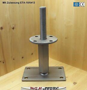 Simpson Stützenfuß APB100//150Z Stahl höhenverstellbar 100-150mm Pfostenträger