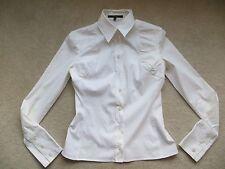 GUCCI Bianco Camicia Aderente raccolte Frida Giannini era