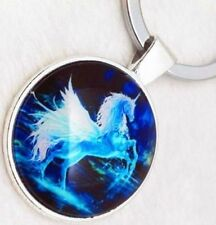 Usa Seller ~ Handcrafted Glowing Pegasus Keychain Keyring Key chain ring