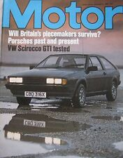 Motor magazine 6/2/1982 featuring VW Scirocco GTi road test
