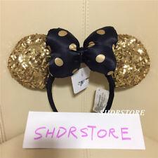 SHDR Gold Black pot minnie mouse ear Headband Shanghai Disneyland Disney Park