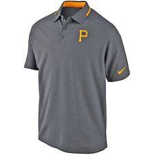 Pittsburgh Pirates Nike Dri-Fit 615444 MLB Authentic Heather 2XL Golf Polo Shirt