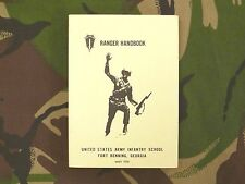Army Ranger Handbook 1972 Special Operations Forces Pocket Field Manual Vietnam