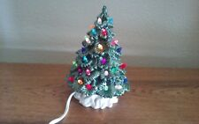 Green 9 In Light up Desktop Ceramic Christmas Tree