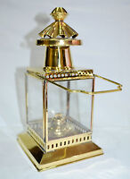 """Antique Brass Ship Hanging Oil Lantern Lamp Home Collectible Decorative 10"""""""