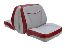 Quality Replacement Bayliner Boat Seats w/ Mounting Bracket Vinyl Red Gray