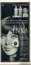 P- Publicité Advertising 1968 Cosmétique crème lait lotion Inka