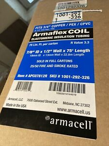 "Armaflex COIL 7/8"" ID x 1/2"" Thick x 75' Continuous Coil Pipe Insulation"