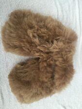 Handmade Alpaca Skin Slippers from Peru (Size 8-8.5)
