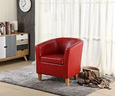 2 Faux Leather Tub Chair Armchair Dining Room Modern Office Bristol Weston Super