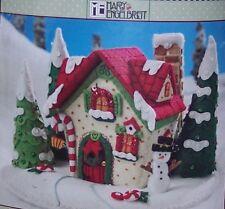 """Bucilla """"Mary's Snow Cottage"""" Felt Christmas Kit Mary Engelbreit RARE Sterilized"""