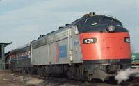 AMTRAK Railroad Streamliner Locomotive 438 Original 1976 Photo Slide