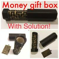 Maze Labyrinth Puzzle Box Money Gift Container Secret Storage Toy With Solution!