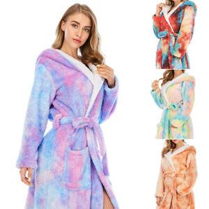 Women's Bath Robe Dressing Gown  Extra Long Supersoft Long Bathrobe Coral Fleece