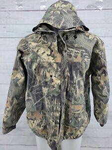 Cabela's Mossy Oak Camo Hunting Jacket Hunting Gore-tex Large Reg USA