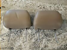1996-2002 Toyta 4Runner Set of 2 Pair Front Seat Headrest Leather Tan OEM