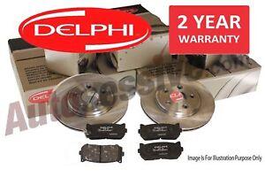 Delphi Vauxhall Zafira B 2005-2011 Rear Brake Discs + Pads 1.6 1.8 1.9 CDTI 2.2