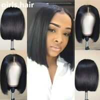 Pre Plucked Real Remy Human Hair Wig Free Part Lace Front Full Wigs Glueless BOB