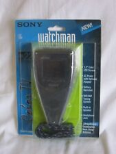 "VINTAGE SONY WATCHMAN FDL-22 PORTABLE 2.2"" LCD COLOR TV MADE IN JAPAN NEW SEALED"