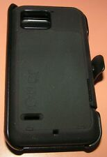 OtterBox Defender case for Motorola Droid Bionic, Black w holster belt clip NEW