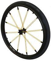Twin-Star 1 paar Rollstuhlräder 12,7mm gelbe Speichen und Decken