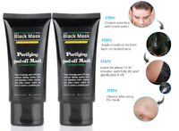 Pack of 2 Purifying Peel Off Mask Blackhead Removing Black Charcoal Facial Mask