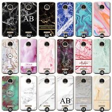 Personalized Marble Phone Case/Cover for Motorola X/Z Initials/Name/Customize