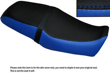 ROYAL BLUE & BLACK CUSTOM FITS YAMAHA SRV 250 DUAL LEATHER SEAT COVER
