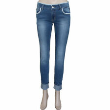 Polyester Machine Washable Low Rise Jeans for Women
