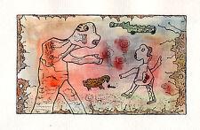 Invasion de Bostriche  - aquarelle et encre sur papier aquarelle