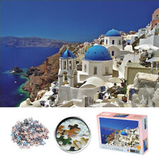 Aegean Sea 1000 Piece Mini Jigsaw Puzzle Santorini Picture Kids Toy Wall Mural