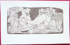 Erotica Etching Ex-Libris by Evald Okas Estonia 1974