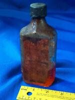 Antique Advertising Bottle Paper Label Gypsy Oil Asthma Kidney Medicine VTG Eli