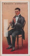Oboe Double Reed Woodwind Musical Instrument 1920sTrade Ad Card