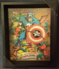 "Marvel Comics Captain America 3d wall art 9"" x 11"""