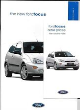 FORD FOCUS CL, ZETEC, LX & GHIA CAR BROCHURE OCTOBER 1998 EDITION 1 PLUS PRICES