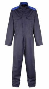 """Gryzko Bi Colour Coverall Navy Blue with Trim Shadow Small Regular 34-36"""" Chest"""