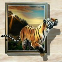 5D DIY Full Drill Diamond Painting Embroidery Cross Stitch Tiger Kit Decor Mural