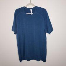 Lululemon Metal Vent Tech Stretch Short Sleeve Training Shirt Mens Size XL Blue