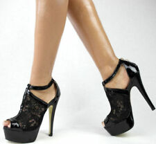 Calzado de mujer plataformas de color principal negro de piel sintética