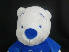 BIG WHITE WINNIE THE POOH WINTER TEDDY BLUE SHIRT KNIT EYES DISNEY PLUSH STUFFED