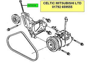 MITSUBISHI SHOGUN PAJERO 90-01 AIR CONDITIONING BELT TENSIONER ADJUSTER BOLT