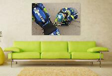Stunning Poster Wall Art Decor Motogp Valentino Rossi Race 36x24 Inches