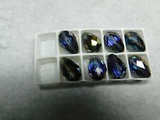 Swarovski 5500 Heliotrope teardrop beads 12 x 8 mm