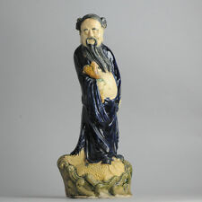 Antique ca 1900 Ming Revival Chinese Statue 49cm Immortal China Qing or Republic
