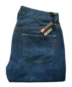 DIESEL JEANS SKINT BLUE DENIM STRAIGHT LEG SIZE W 30 L 32 MADE IN ITALY NEW TAGS